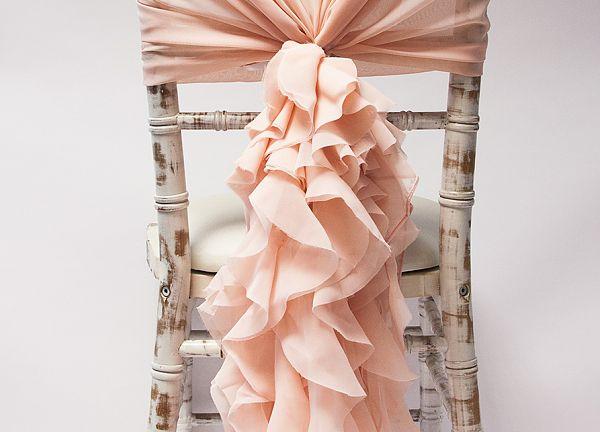 Blush pink chiffon tails